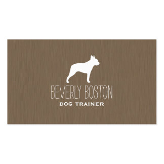 Boston Terrier Silhouette Double-Sided Standard Business Cards (Pack Of 100)