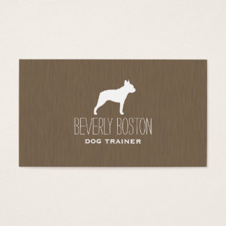 Boston Terrier Silhouette Business Card