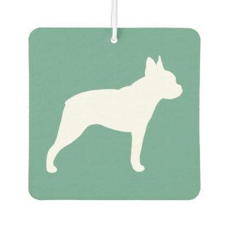 Boston Terrier Silhouette Car Air Freshener