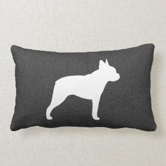 Boston Terrier Silhouette Lumbar Pillow