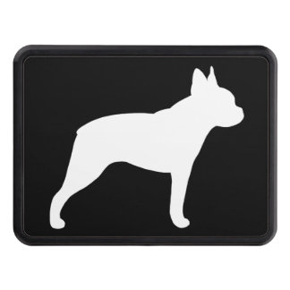 Boston Terrier Silhouette Tow Hitch Cover