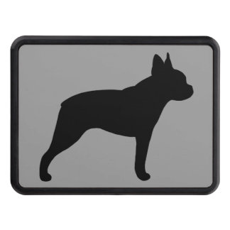 Boston Terrier Silhouette Trailer Hitch Cover
