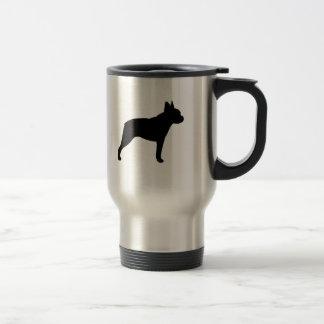 Boston Terrier Silhouette Travel Mug