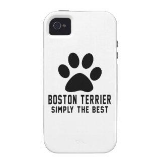 Boston Terrier simplemente el mejor iPhone 4 Funda