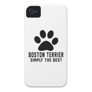 Boston Terrier simplemente el mejor iPhone 4 Fundas