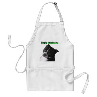 Boston Terrier:  Simply Irresistable Adult Apron