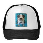 Boston Terrier sitting on a bed Trucker Hat