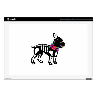 Boston Terrier Skeleton Decal For Laptop