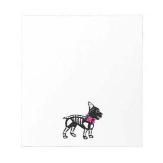 Boston Terrier Skeleton Notepad