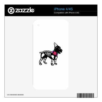 Boston Terrier Skeleton Skins For iPhone 4