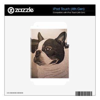BOSTON TERRIER DECALS FOR iPod TOUCH 4G