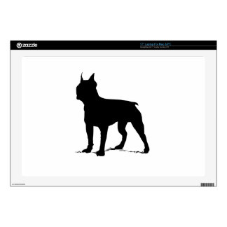 "Boston Terrier Decal For 17"" Laptop"