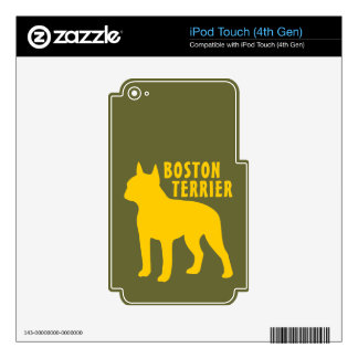 Boston Terrier iPod Touch 4G Decal