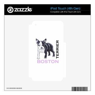 BOSTON TERRIER iPod TOUCH 4G SKIN