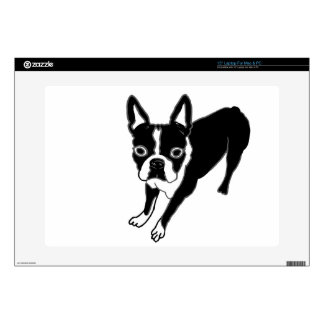"Boston Terrier Skins For 15"" Laptops"