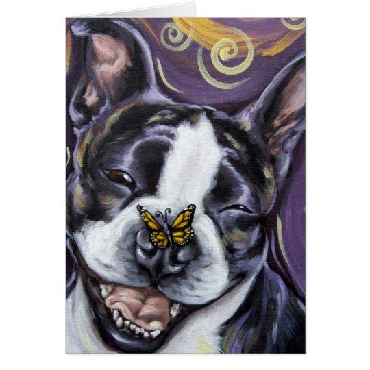 Boston Terrier Smile Card
