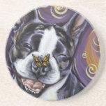 Boston Terrier Smile Drink Coasters