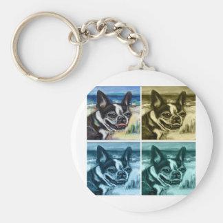 Boston Terrier smile Keychain