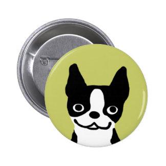 Boston Terrier Smile Pinback Button