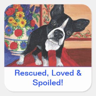 Boston Terrier Square Sticker
