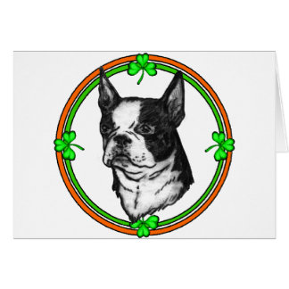 Boston Terrier St Patrick's Day Card