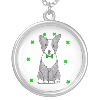 Boston Terrier St Patricks Day Necklace