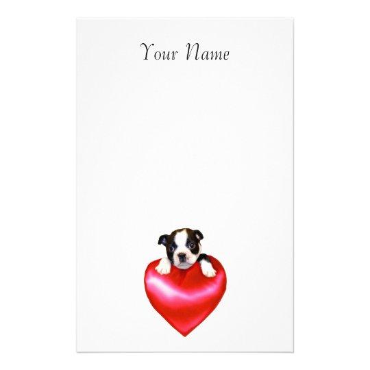 Boston Terrier staitonary Stationery