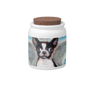 Boston Terrier Star Love Candy Jar