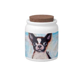 Boston Terrier Star Love Candy Jars