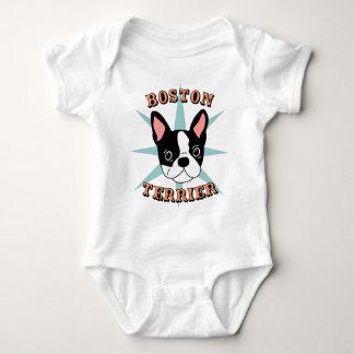 Boston Terrier Starburst Baby Bodysuit