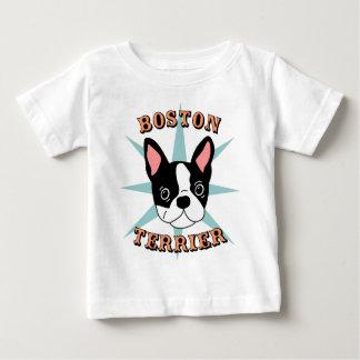 Boston Terrier Starburst Playera De Bebé