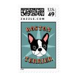 Boston Terrier Starburst Stamps
