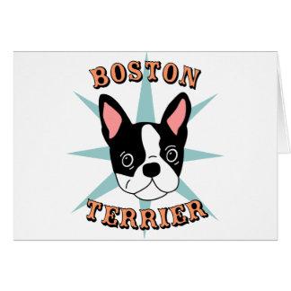 Boston Terrier Starburst Tarjeta De Felicitación