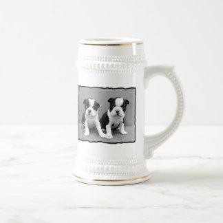 Boston Terrier stein