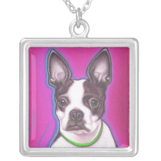 Boston Terrier sterling necklace