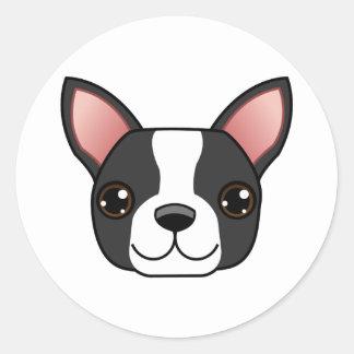 Boston Terrier Classic Round Sticker