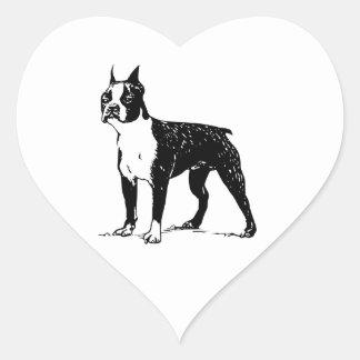 Boston Terrier Heart Sticker