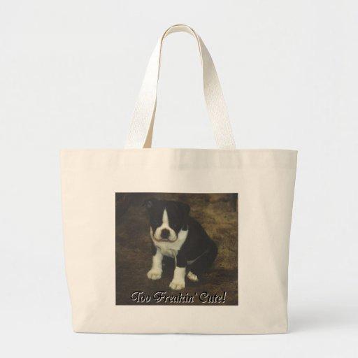 Boston Terrier:  También Freakin lindo Bolsa Tela Grande