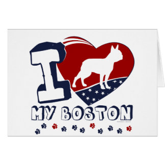 Boston Terrier Tarjeta Pequeña
