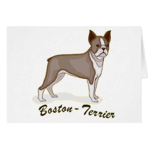 Boston Terrier Tarjetas