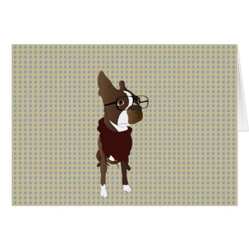 Boston Terrier Tarjeton