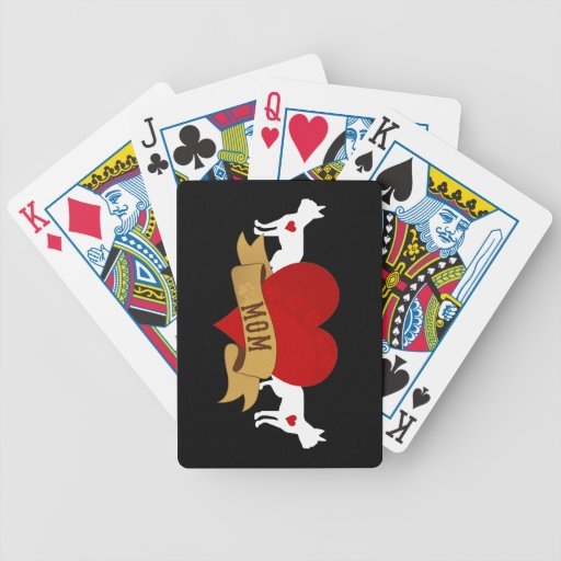 Boston Terrier [Tattoo style] Bicycle Playing Cards