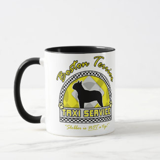Boston Terrier Taxi Service Mug