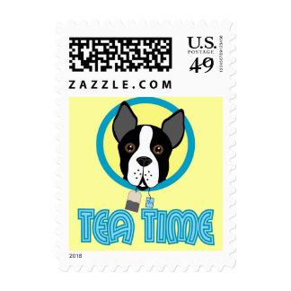 Boston Terrier Tea Party Postage