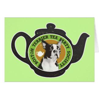 Boston Terrier Tea Party Society Card