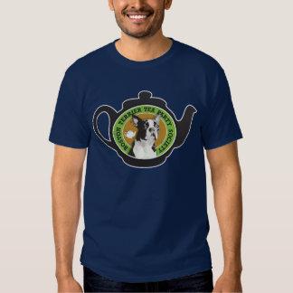 Boston Terrier Tea Party Society Tee Shirt