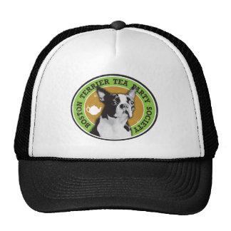 Boston Terrier Tea Party Society Trucker Hat