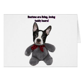 Boston Terrier:  Teddy Bears Card