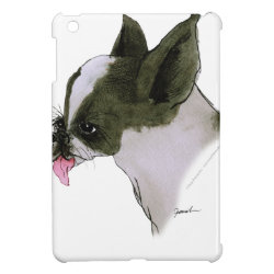 Case Savvy iPad Mini Glossy Finish Case with Boston Terrier Phone Cases design