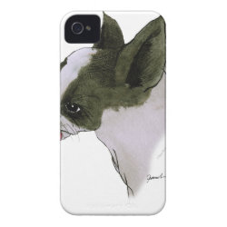 Case-Mate iPhone 4 Barely There Universal Case with Boston Terrier Phone Cases design